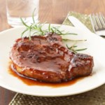 Lemon-Raspberry Glazed Pork Chops