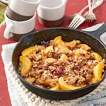 Peach-Cinnamon Graham Crumble