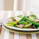 Apple Spinach Salad with Thyme-Dijon Vinaigrette