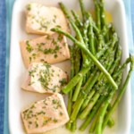 Citrus Poached Salmon with Asparagus
