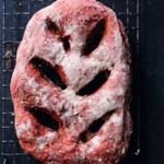 Whole-Wheat Beet Fougasse