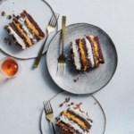 Pumpkin-Chocolate Cream Cake