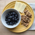Blueberries with Walnuts & Cheese