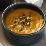 Roasted Pumpkin Soup with Glazed Pepitas