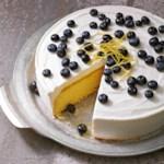 Blueberry Lemon Curd Ice Cream Cake