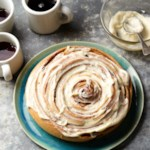 Cinnamon Roll Cake with Cream Cheese Frosting