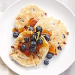 Blueberry-Lemon Cottage Cheese Silver Dollar Pancakes