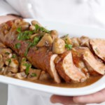 Pork Tenderloin with Brown Gravy and Mushrooms