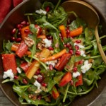 Arugula Salad with Carrots and Goat Cheese