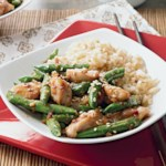 Sesame Honey Chicken and Green Beans