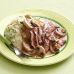 Steak and Mushrooms with Parsley Mashed Potatoes