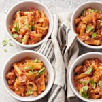 Eggplant and Sausage Slow Cooker Baked Ziti