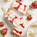 Strawberry Swirl Cheesecake Ice Pops