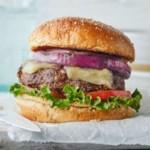 Grilled Bison-Mushroom Burgers