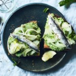 Pea & Fennel Toasts with Sardines