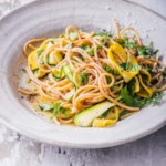 Lemon-Pepper Linguine with Squash