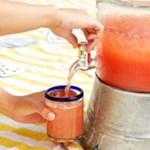 Cucumber-Peach Hibiscus Agua Fresca