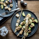 Tofu Kebabs with Zucchini & Eggplant
