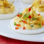 Deviled Eggs with Spicy Crab