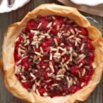 Chocolate-Almond Topped Cherry Pie