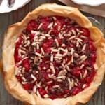 Chocolate-Almond Topped Cherry Pie