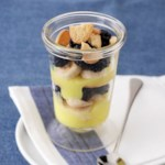 Blackberry-Banana  Lemon Trifles