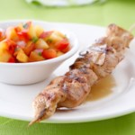 Chicken Skewers with Peach Salsa