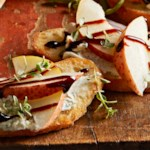 Pear Crostini with Blue Cheese Spread