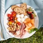 Prosciutto, Mozzarella & Melon Plate