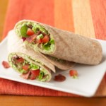Bacon and Edamame Wraps