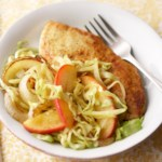 Curried Chicken with Cabbage, Apple and Onion