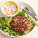 Mexican Rice and Bean Patties Salad