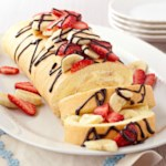 Low Fat Banana Split Cake Roll