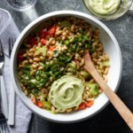 Pasta Salad with Creamy Avocado Dressing