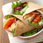 Grilled Chicken and Peach Wraps
