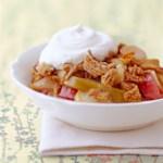 Pear-Rhubarb Crisp