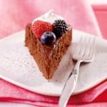 Mocha Cake with Berries