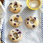 Gluten-Free Blueberry-Lemon Doughnuts