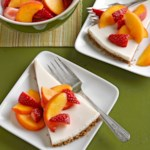 Fresh Strawberry-Peach Cream Pie