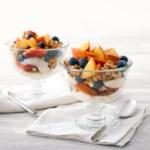 Peach-Blueberry Parfaits