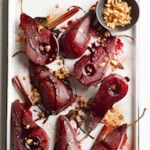 Spiced-Pomegranate Poached Pears