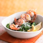 Garlic Shrimp on Spinach
