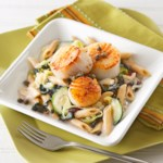 Scallops and Pasta with Lemon-Caper Cream Sauce