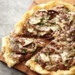 Steak and Mushroom Phyllo Pizza