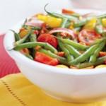 Green Bean Salad with Basil-Tomato Vinaigrette