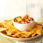 Citrus Salsa with Baked Chips