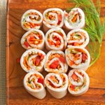 "Turkey Vegetable ""Sushi"""