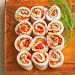 """Turkey Vegetable """"Sushi"""""""