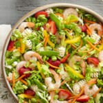 Shrimp and Edamame Salad with Ginger Dressing