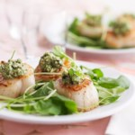 Seared Scallops with Mint Pesto